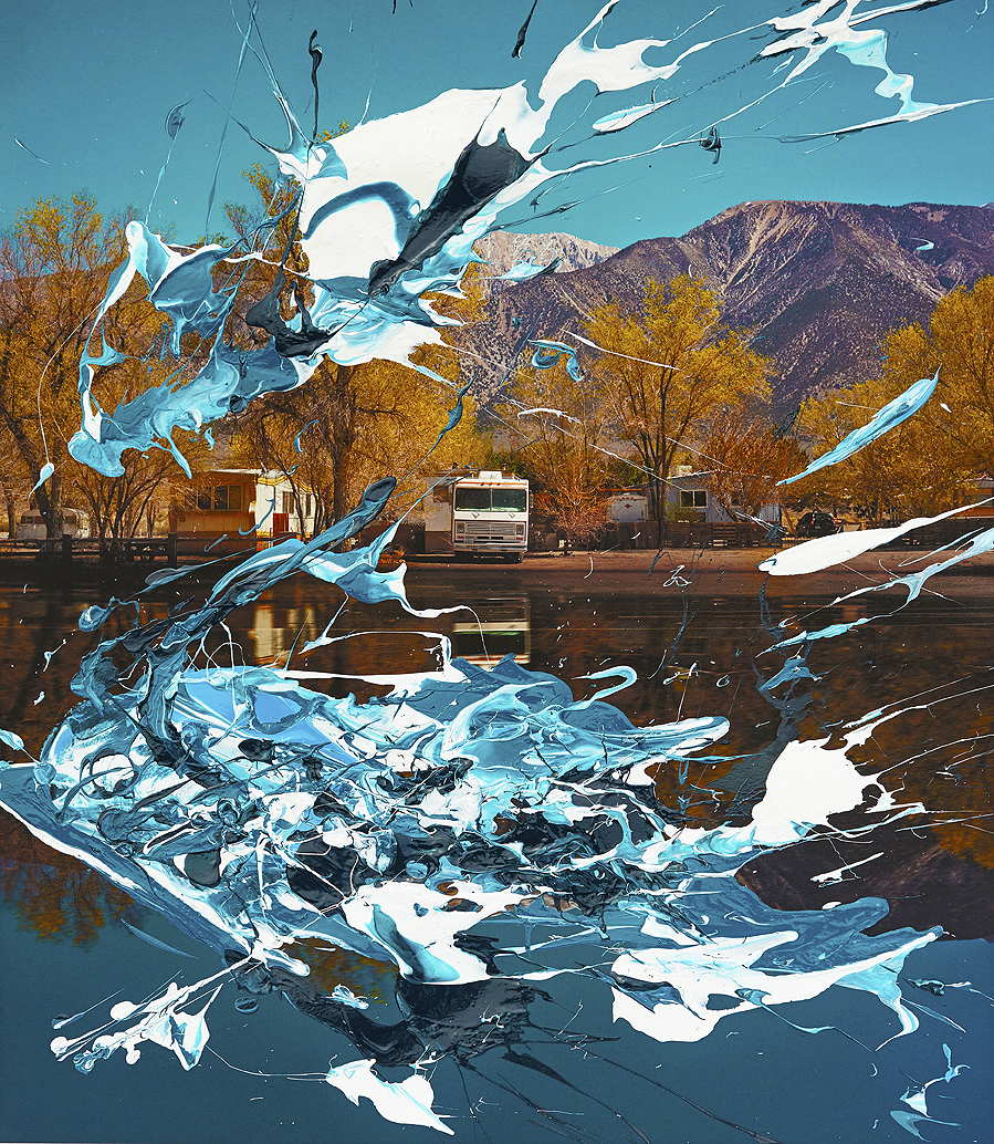 #painting-#photography#fineart#popart-#peterwesth-Peter Westh-@peterwesth-california-desert-blue-water-skye-mountains